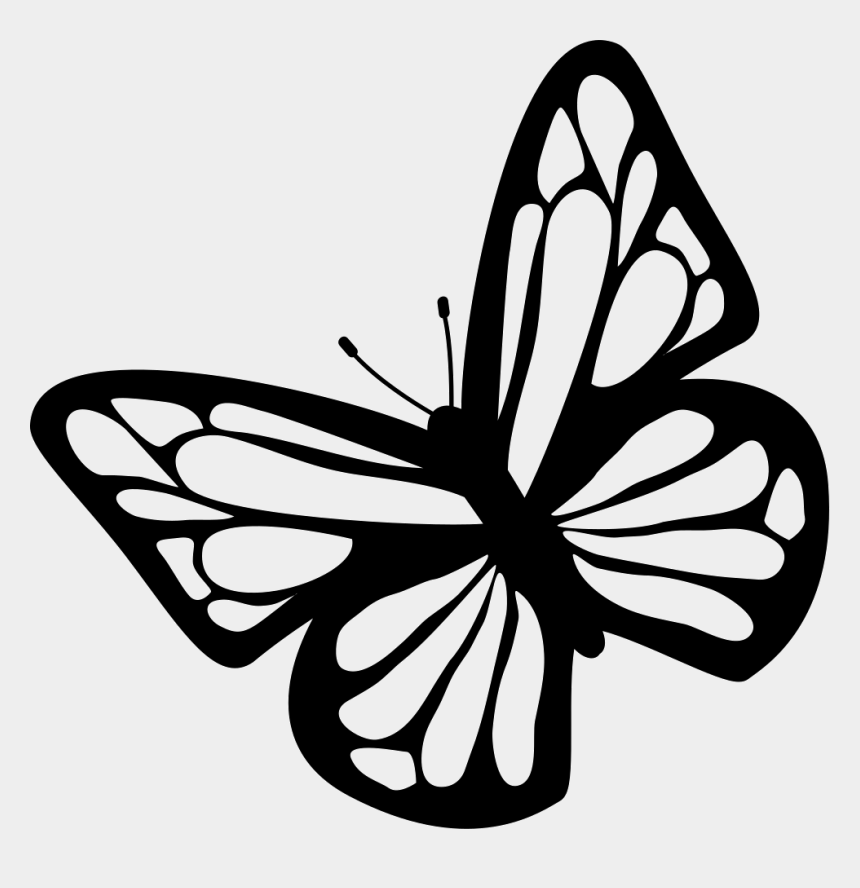 butterfly clipart black and white outline, Cartoons - Butterfly Black And White Clipart Download Free Images - Butterfly Svg Free