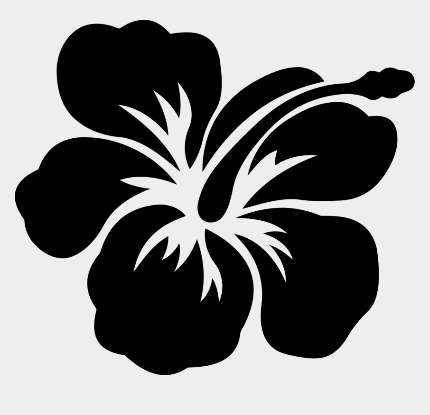 hibiscus clipart black and white, Cartoons - Flower Hawaiian Hibiscus Shoeblackplant Drawing Decal - Hibiscus Drawing