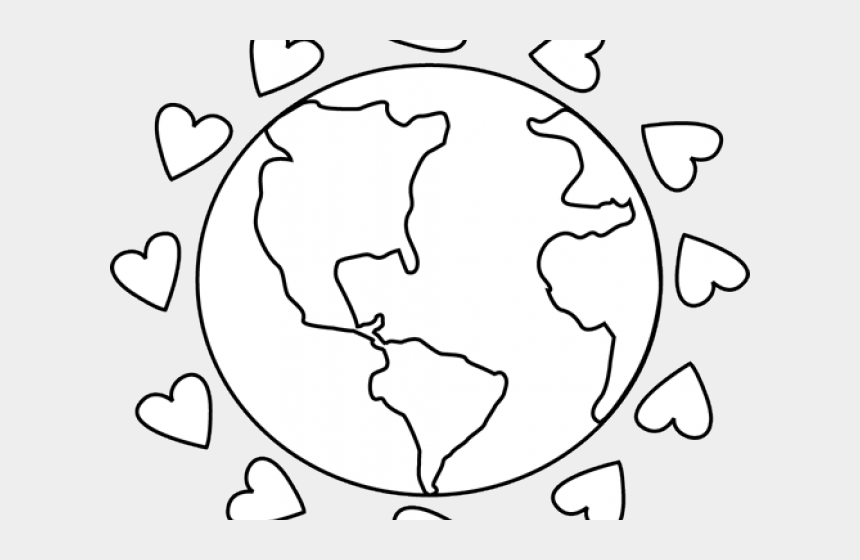 love clipart black and white, Cartoons - Love Clipart Black And White - Black And White Earth Day Clipart