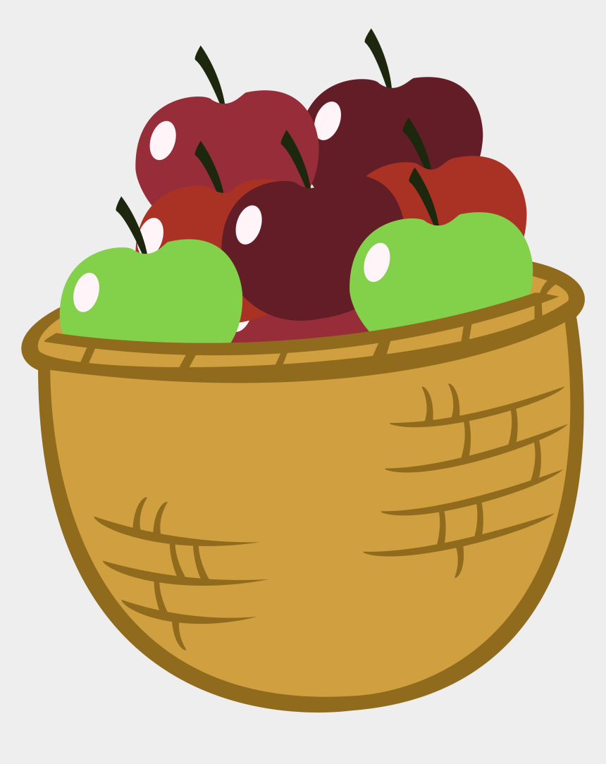 apple basket clipart, Cartoons - Funny Pencil And In Color - Cartoon Basket Of Apples