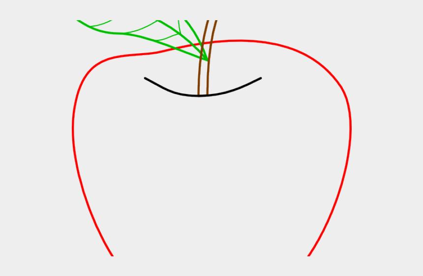 apple outline clipart, Cartoons - Apple Clipart Outline - Outline Of An Apple