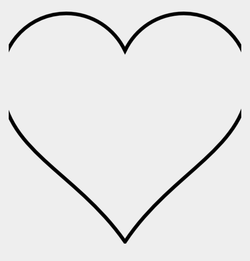 White Heart Clipart Png - Valentines Day Heart Coloring Page ...