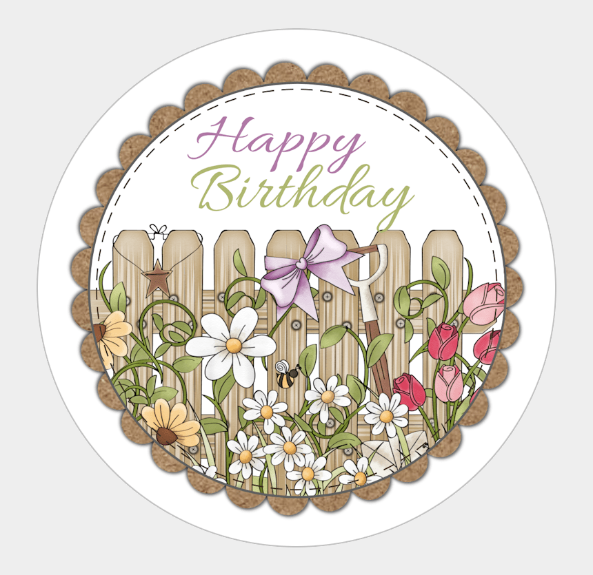 photo about Happy Birthday Cake Topper Printable titled Free of charge Printable -back garden Bash Joyful Birthday Cupcake - Flower