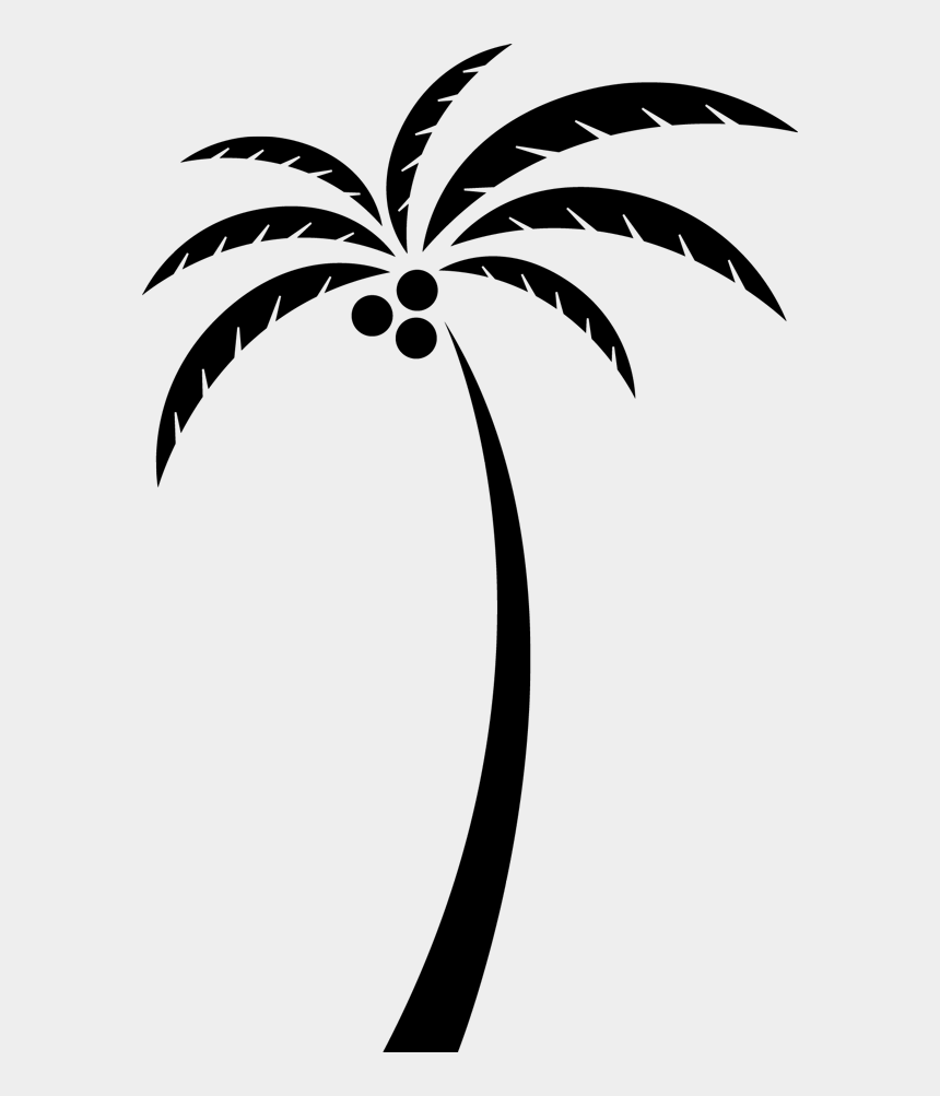 coconut tree clipart black and white, Cartoons - Coconut Arecaceae Tree Clip Art - Coconut Tree Vector Png