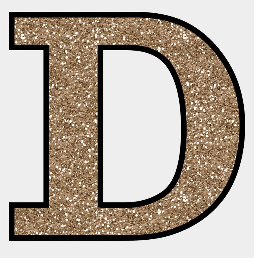 alphabet clipart letters free, Cartoons - Letter D Png - Gold Glitter Letter D
