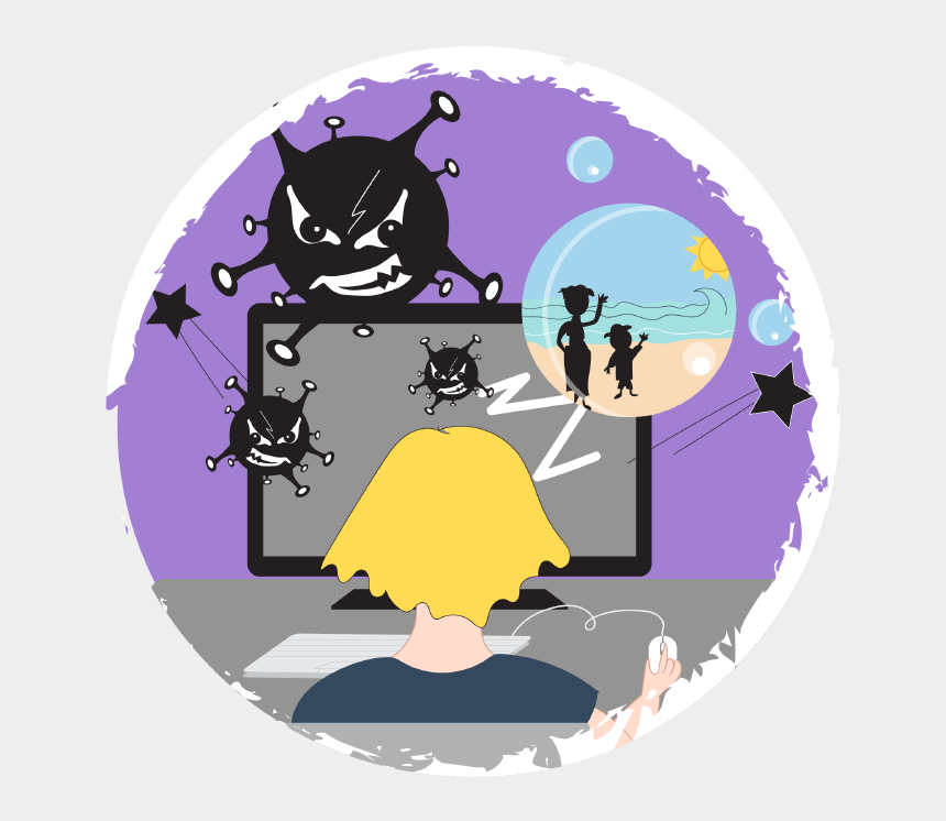 internet safety clipart, Cartoons - Being Safe On The Internet - Safe In The Internet