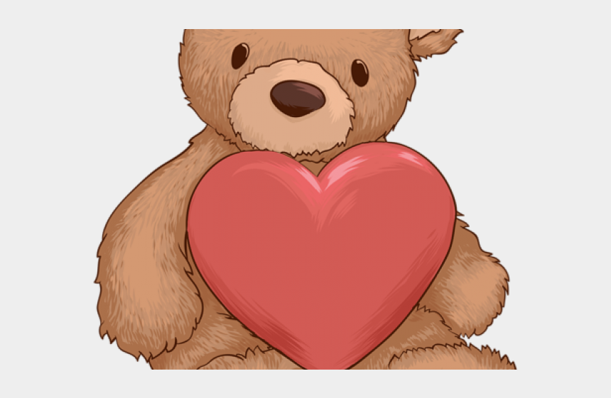 stuffed animal clipart, Cartoons - Stuffed Animal Clipart Transparent Background - Background Valentines Day Bear