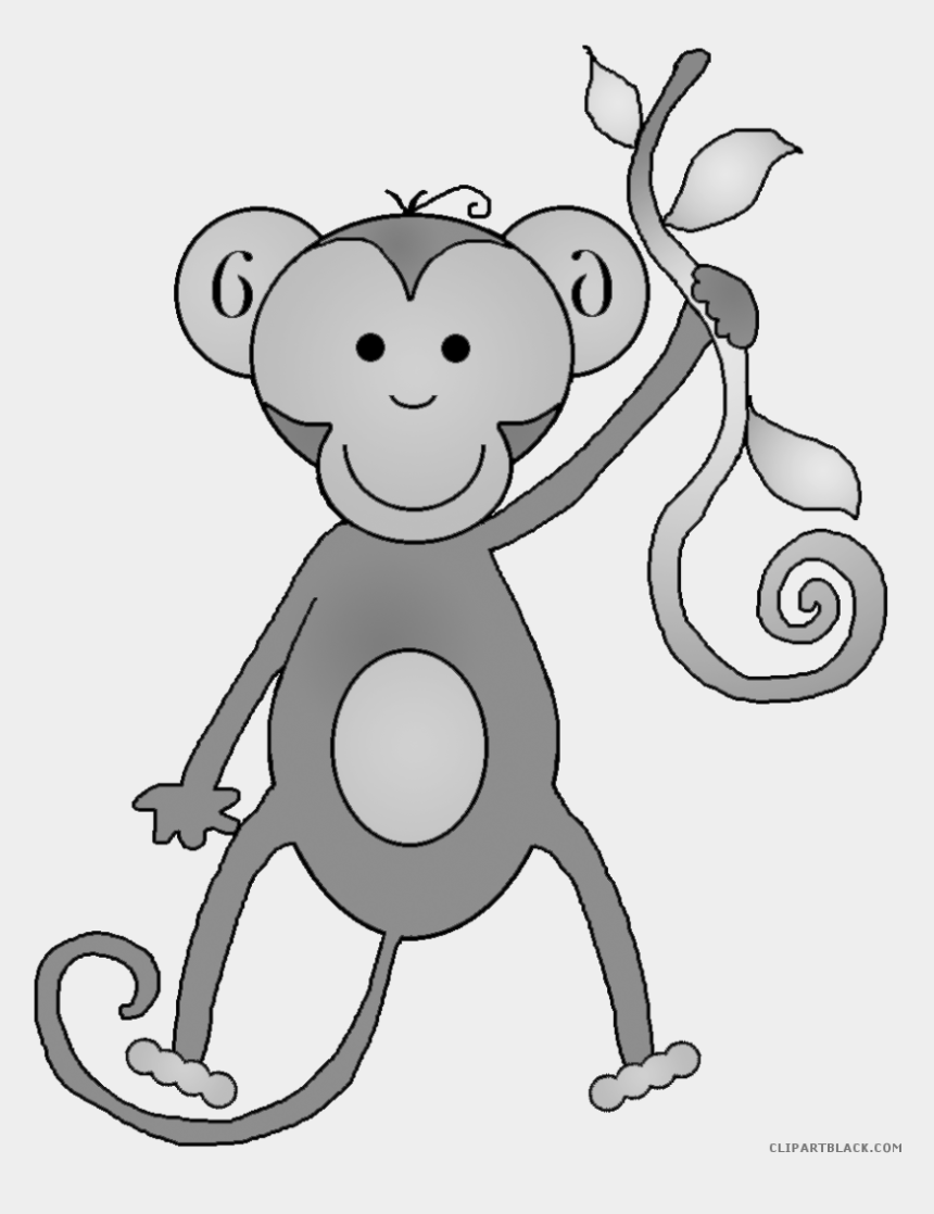clipart black and white animals, Cartoons - Page Of Clipartblack Com - Transparent Background Clipart Monkey Png