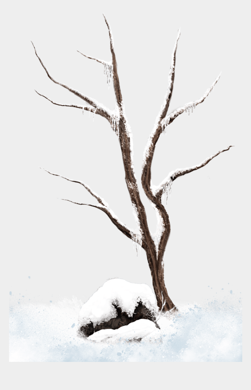 winter background clipart, Cartoons - Brown Winter Snowy Tree Png Clipart Picture - Snow