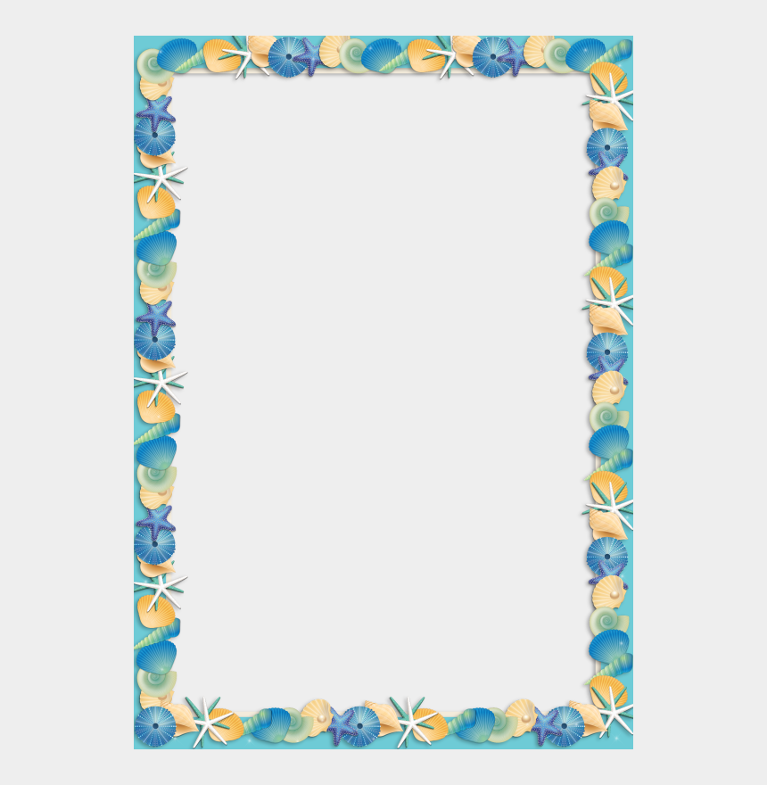 beach border clipart, Cartoons - Stationary Printable, Printable Frames, Border Templates, - Shell Frames Png