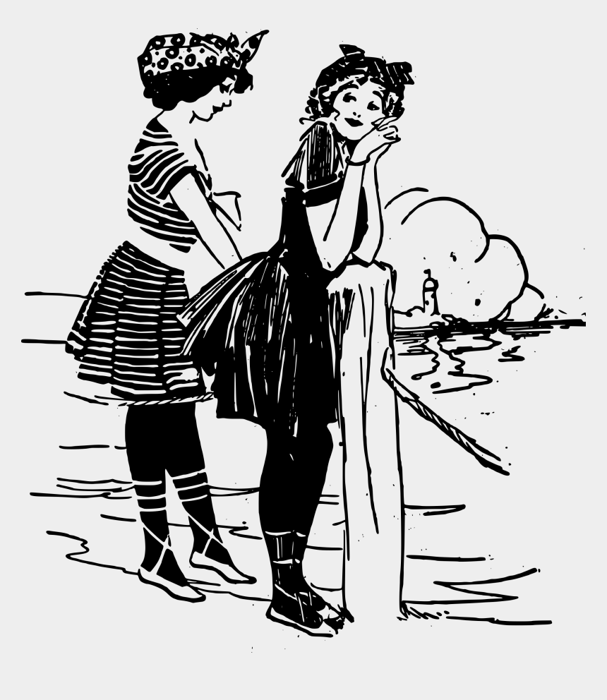 beach clipart black and white, Cartoons - Drawing Beach Person - Black And White Beach Drawing
