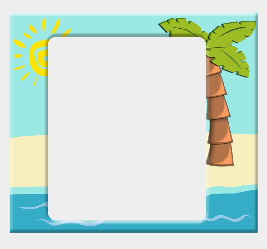 beach border clipart, Cartoons - Clipart Frames Beach - Beach Frame