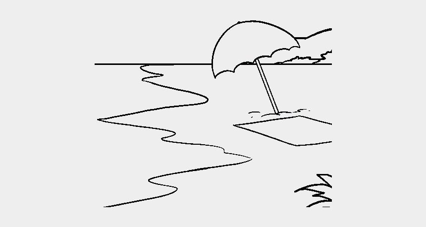 beach clipart black and white, Cartoons - Drawing Beach Easy - Easy Drawing Of A Beach