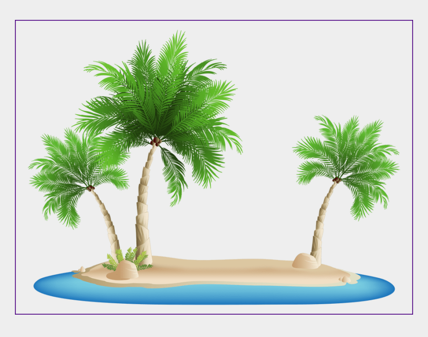 beach background clipart, Cartoons - Shocking Palm Png Image - Palm Tree Island Png