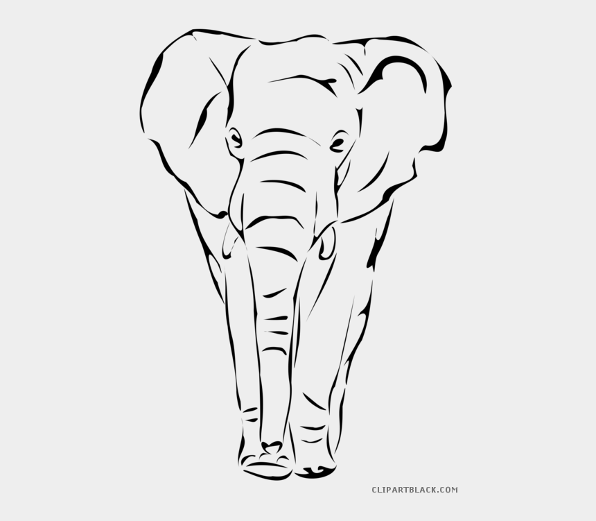 indian clipart black and white, Cartoons - Elephant Animal Free Images Clipartblack Ⓒ - Drawing Elephant Face
