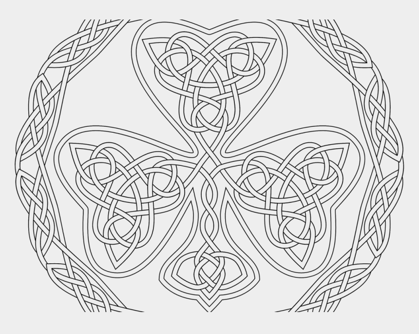 shamrock clipart black and white, Cartoons - Arts Culture Celtic Basic Rectangular Knot Art Coloring - Celtic Heart Coloring Pages