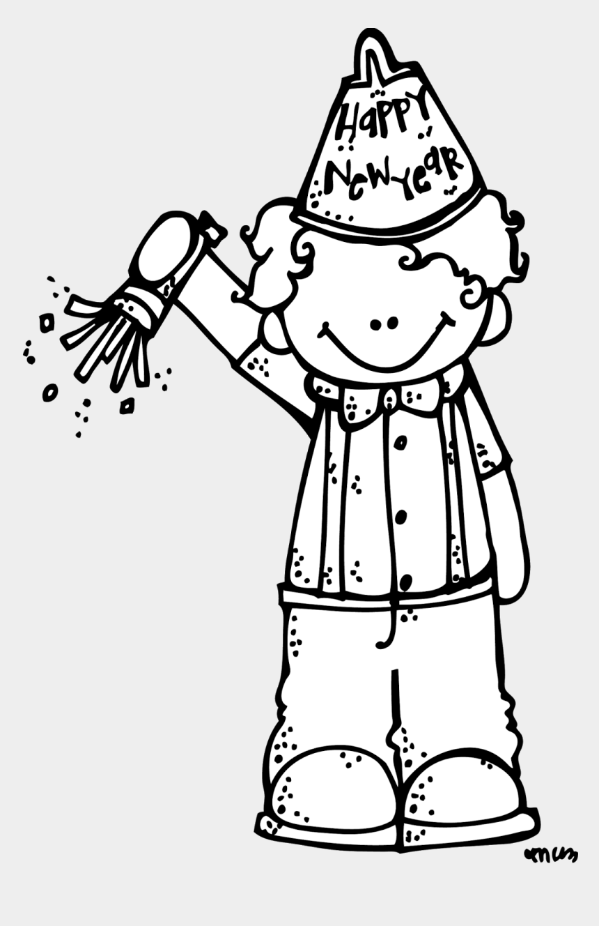 new year clipart black and white, Cartoons - Let's Start The New Year Off The Right Way - Melonheadz Clipart Happy New Year