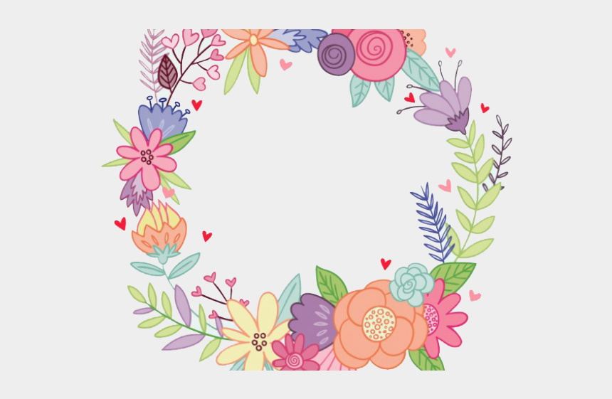 mexican border clipart, Cartoons - Floral Clipart Mexican - Watercolor Wreath Flower Png