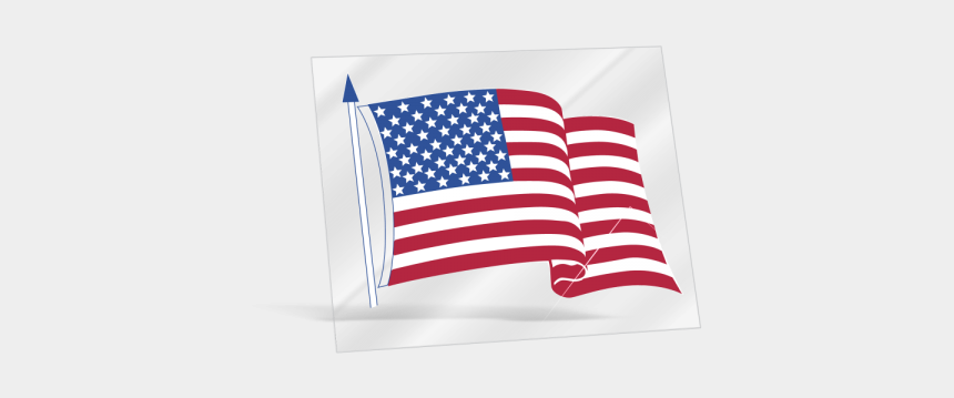 waving flag clipart, Cartoons - Stickers Transparent American Flag - American Flag Inside Window Sticker