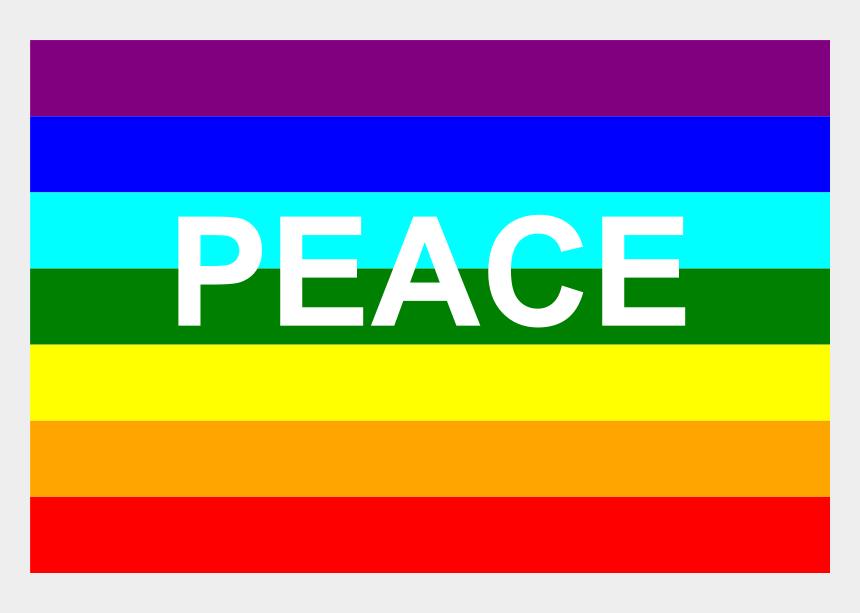 italian flag clipart, Cartoons - Rainbow Flag Peace Symbol