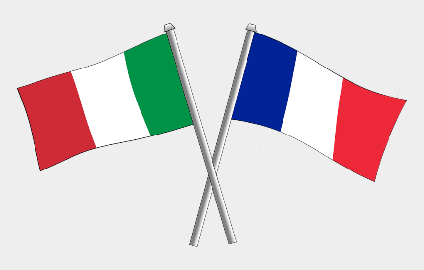 italian flag clipart, Cartoons - France Friendship Flag Flags Crossbred Italy - Germany And Switzerland Flags