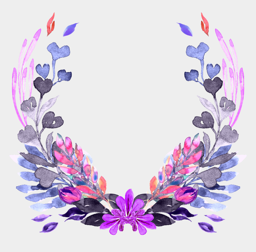 floral wreath clipart, Cartoons - #floral #wreath #frame #flowers #floralwreath - Wreath Flower Png Purple