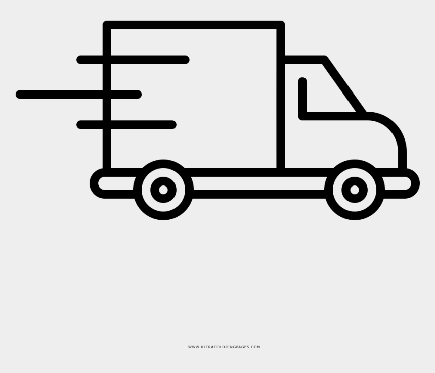 delivery truck clipart, Cartoons - Delivery Truck Coloring Page - Free Shipping Truck Icon Png