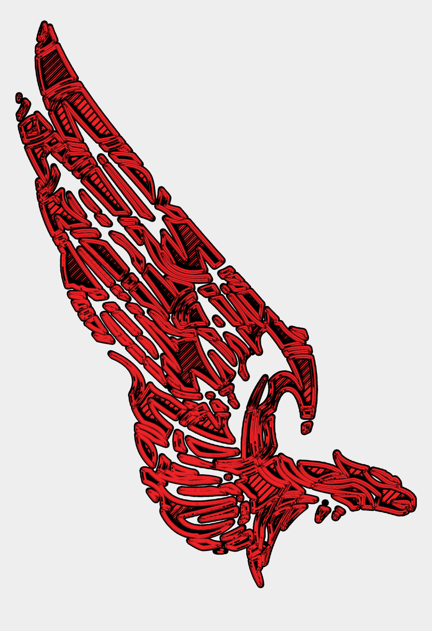 eagle wings clipart, Cartoons - Eagle Wing Red Image - Tattoo Wings Red Png
