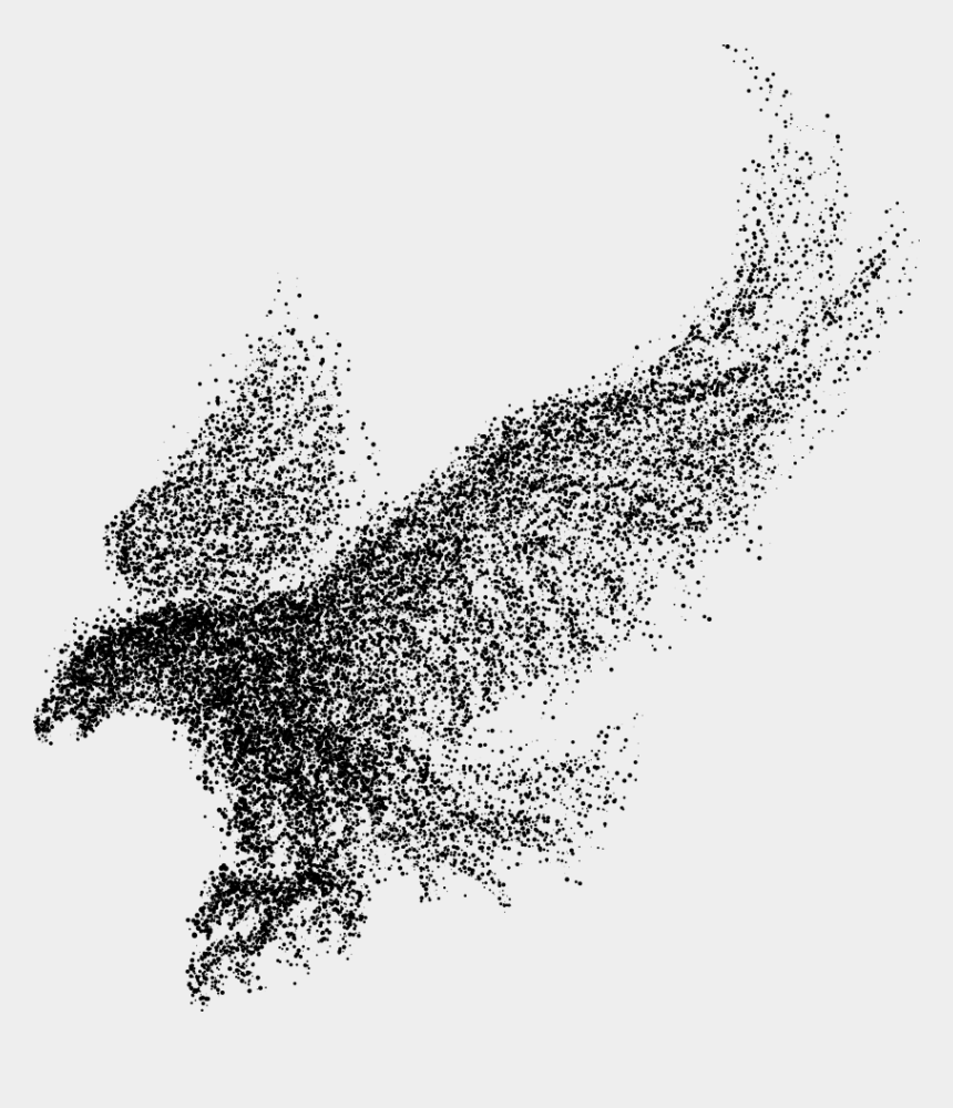 eagle wings clipart, Cartoons - Eagle Bald Wings Particles Vector Bird - Particle Eagle Vector