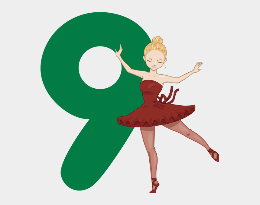 12 days of christmas clipart, Cartoons - Day 9 ~ Kbc's 12 Days Of Christmas Free Booklets Amp - 9 Ladies Dancing 12 Days Of Christmas