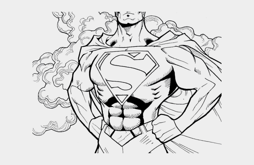 Drawn Superman Superwoman - Halloween Superhero Coloring ...