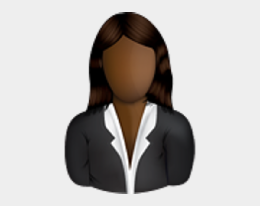strong woman clipart, Cartoons - Female Business User Icon - Black Female User Icon