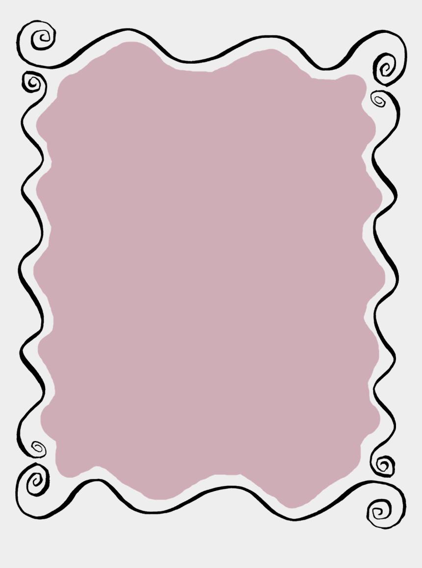 doodle clipart, Cartoons - Label Frame Wavy Hand Drawn Line Art Doodle Digital - Transparent Border Label Png