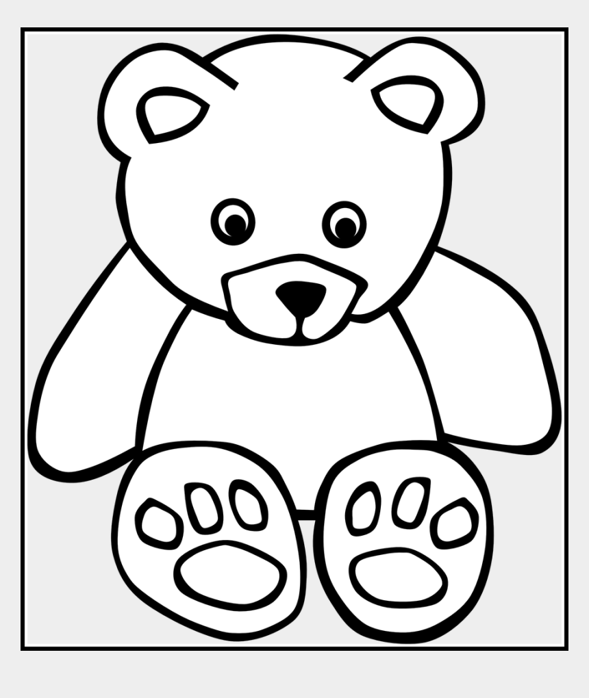 baby clipart black and white, Cartoons - Teddy Drawing Baby Bear - Teddy Bear Clip Art Black And White