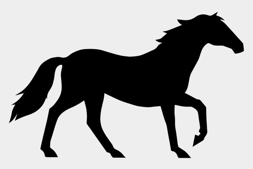 horse clipart outline, Cartoons - Outline Vector Horse - Pure Black And White