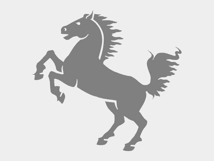 horse jumping clipart, Cartoons - Blue Mustang Horse