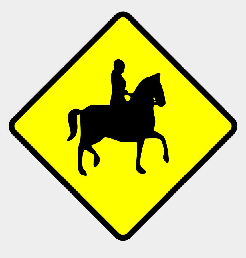 horse riding clipart, Cartoons - Caution Horse Ridder Crossing Clip Art - Horses Crossing Sign