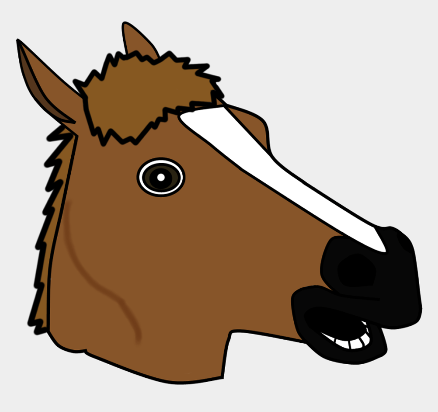 horse head clipart, Cartoons - Horse Head Mask Vector - Horse Head Mask Drawing