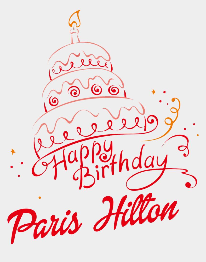 happy birthday niece clipart, Cartoons - Paris Hilton Happy Birthday Vector Cake Name Png - Alexa Bliss Birthday Cake