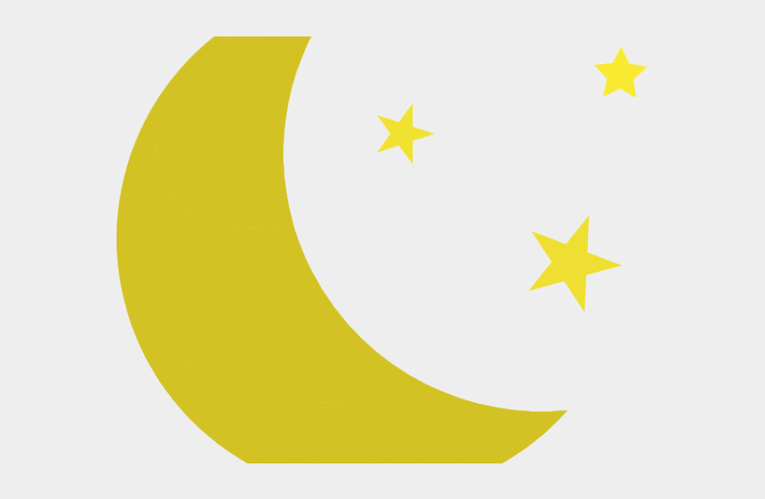 yellow star clipart, Cartoons - Yellow Stars Clipart - Moon And Stars Silhouette