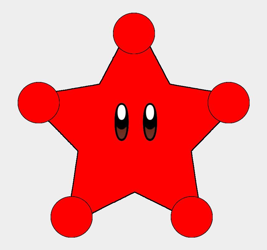 red star clipart, Cartoons - Paper Mario Galaxy - Dark Super Star Mario Galaxy