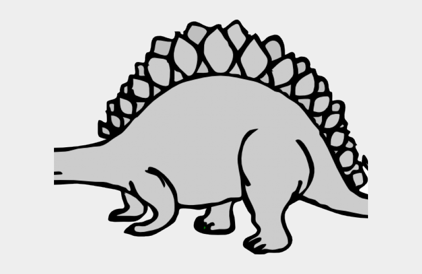 dinosaur clipart black and white, Cartoons - Dinosaur Clipart Stegosaurus - Dinosaur Coloring Pages For Kids