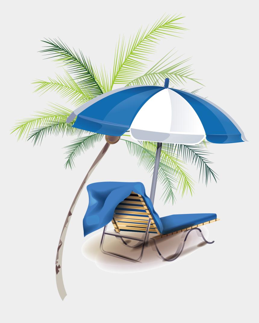 summer vacation clipart, Cartoons - Summer Vacation Creative Free Download Png Hd - Пальма Шезлонг Png
