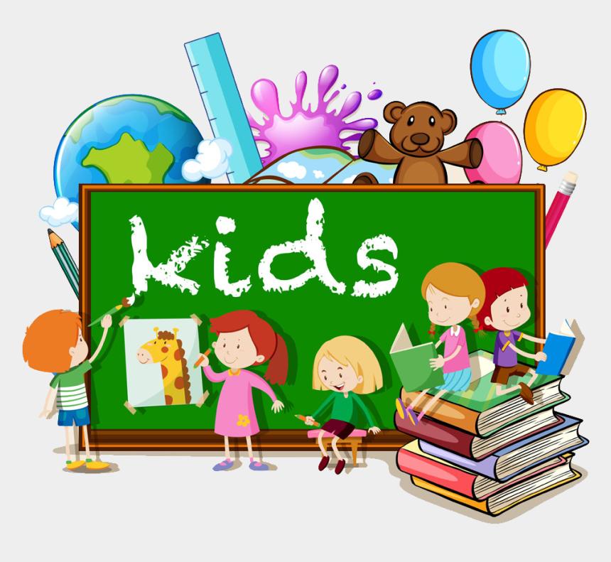 kids writing clipart, Cartoons - Reading Royalty Free Illustration - Kids Books Cartoon
