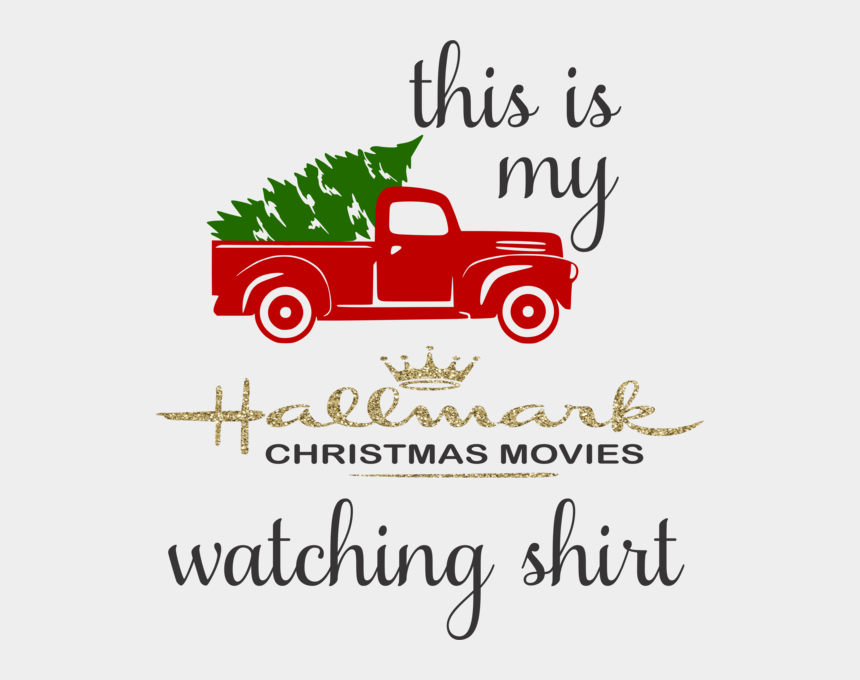 watching movie clipart, Cartoons - This Is My Hallmark Christmas Movie Watching Shirt - Antique Car