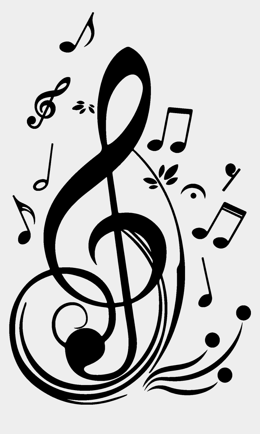Note De Musique Treble Clef With Notes Around Cliparts Cartoons Jing Fm