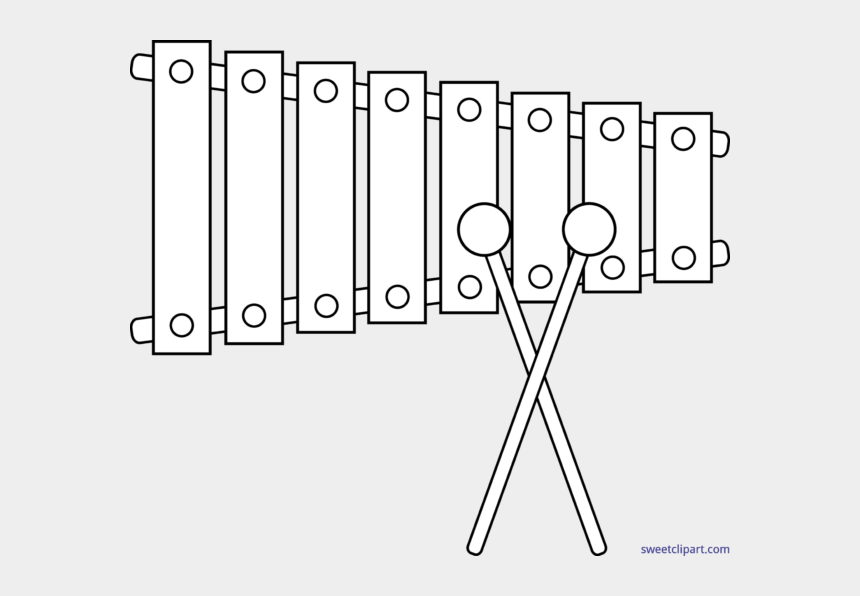 musical instruments clipart black and white, Cartoons - Xylophone Drawing Black White Clipart - Xylophone Black And White