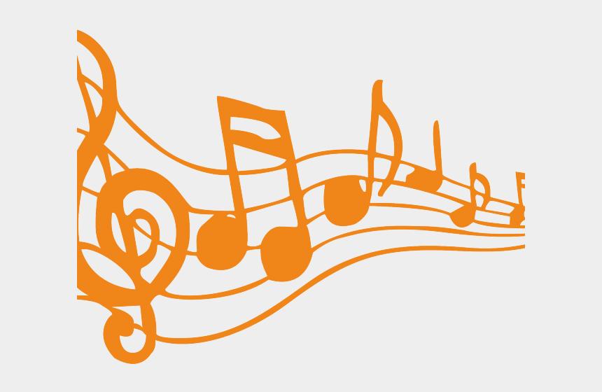 clipart note de musique, Cartoons - Musical Notes Clipart Singing - Music Notes Clip Art Orange