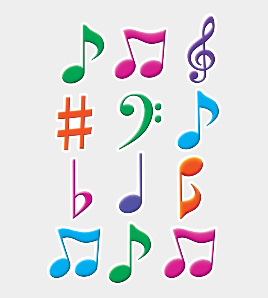 clipart note de musique, Cartoons - Musical Notes Mini Accents - Color Music Notes