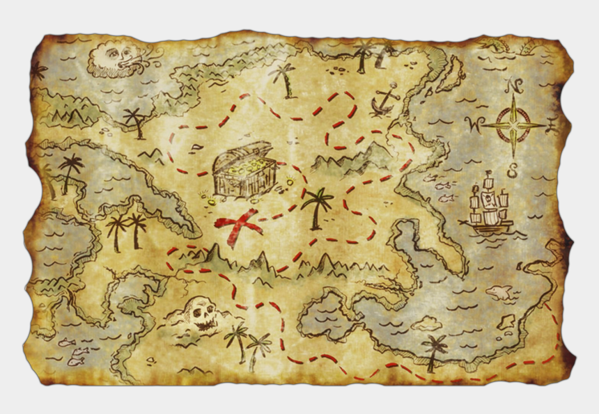 pirate map clipart, Cartoons - Treasure Map Png - One Piece Treasure Map